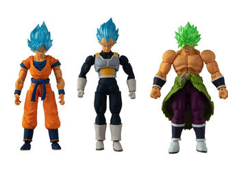 Dragon Ball Action Figure Triple Pack - Broly, Vegeta & Goku
