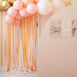 Gold & Peach Streamer Party Backdrop