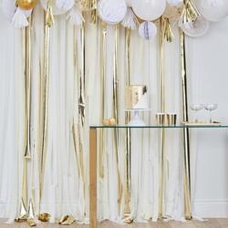 Gold Streamer Party Backdrop