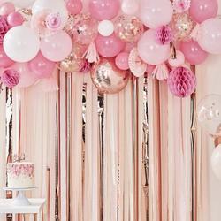Blush & Peach Balloon Fan Garland Backdrop
