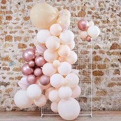 Pampas, White, Peach & Rose Gold Balloon Arch Kit
