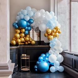 Luxe Blue & Gold Balloon Arch Kit