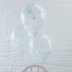 Blue Confetti Balloons