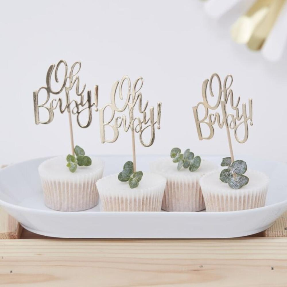 Oh Baby Cake Toppers