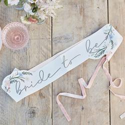 Floral Bride To Be Sash