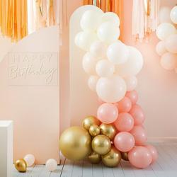 Peach & Gold Balloon Arch Kit
