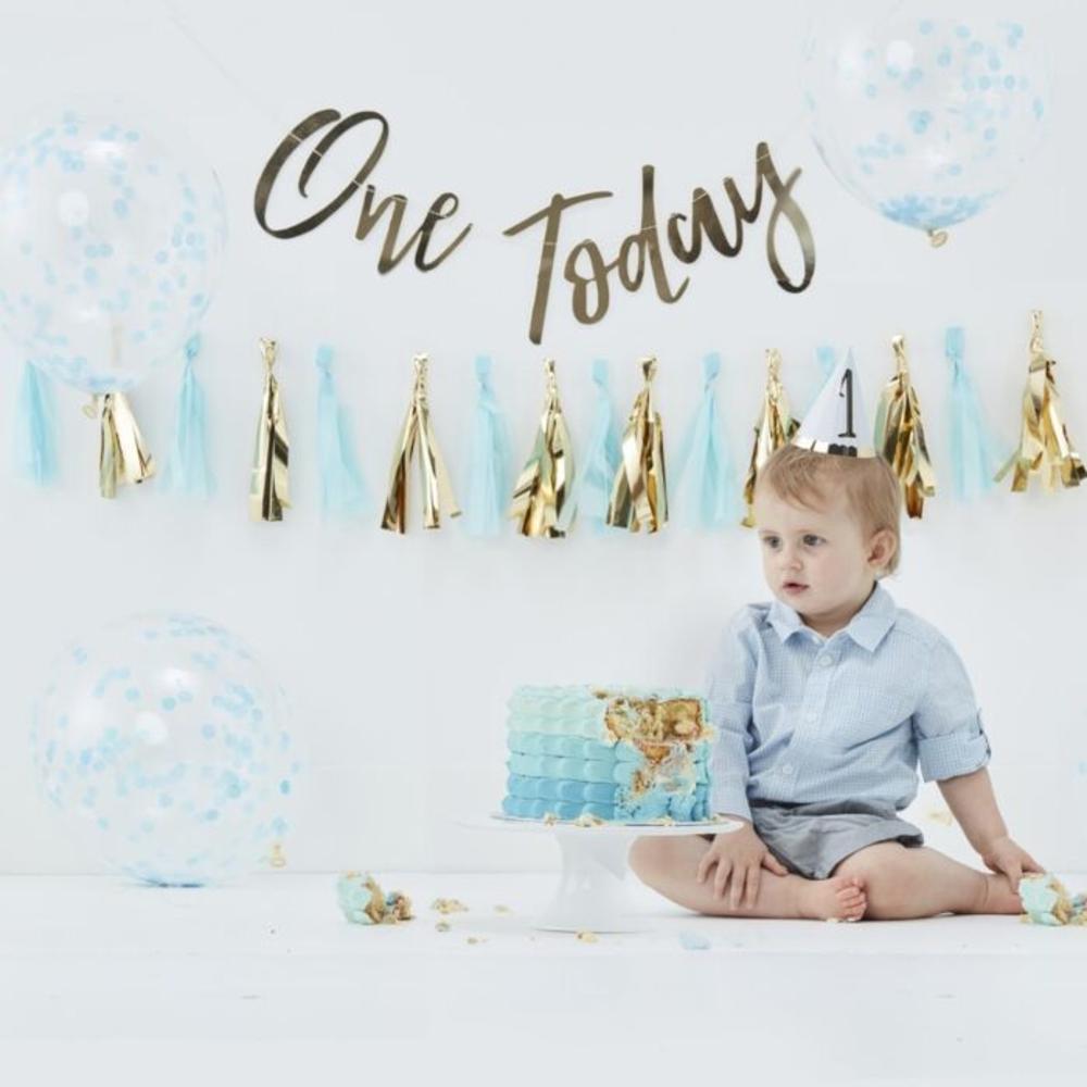 Blue Baby Cake Smash 1st Birthday Kit