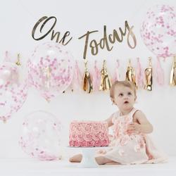 Pink Baby Cake Smash 1st Birthday Kit