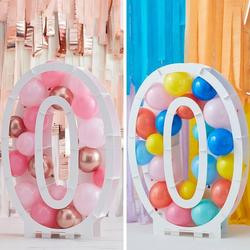 Balloon Mosaic Number Stand - 0