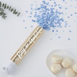 Blue Confetti Cannon