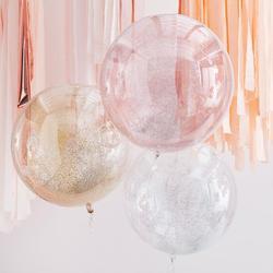 Mixed Metallics Orb Glitter Balloons