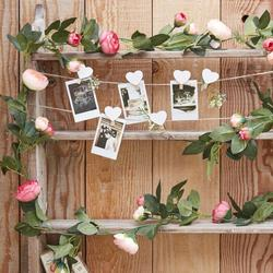 Artificial Pink Rose Garland