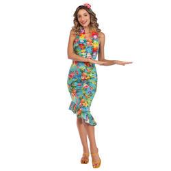 Ladies Hawaii Blue Dress