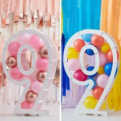 Balloon Mosaic Number Stand - 9