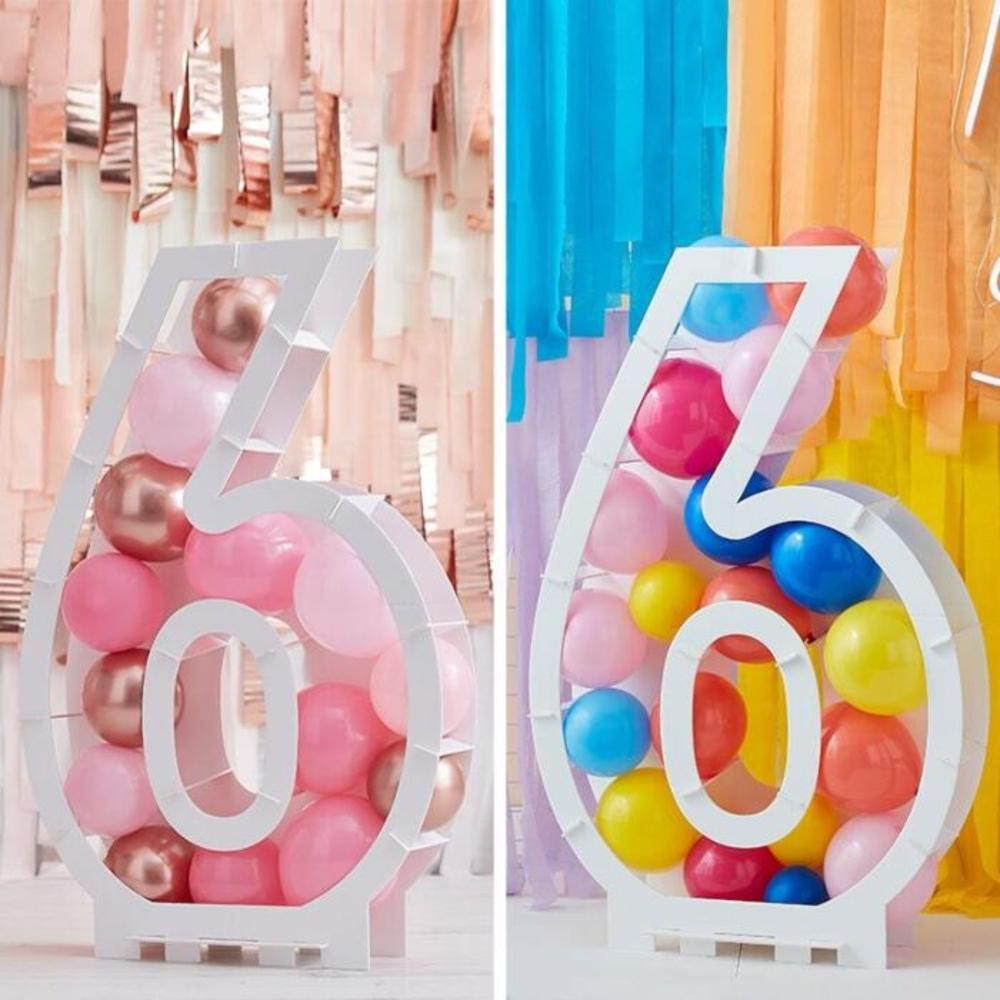 Balloon Mosaic Number Stand - 6