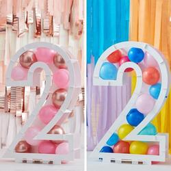 Balloon Mosaic Number Stand - 2