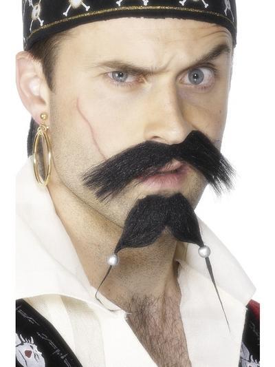 Pirate Tash and Beard Set