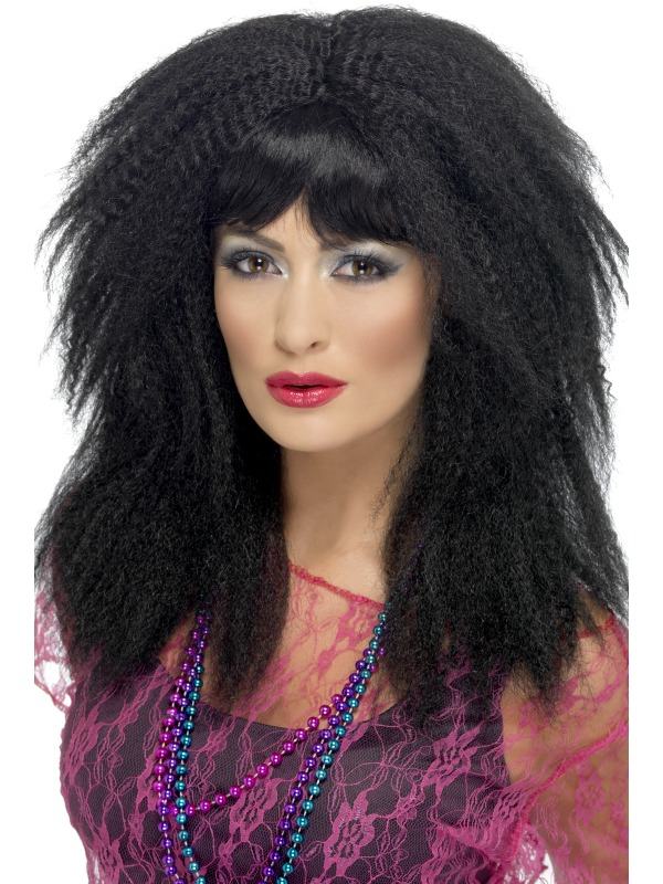 Ladies 80s Trademark Crimp Wig Ladies Fancy Dress Wigs