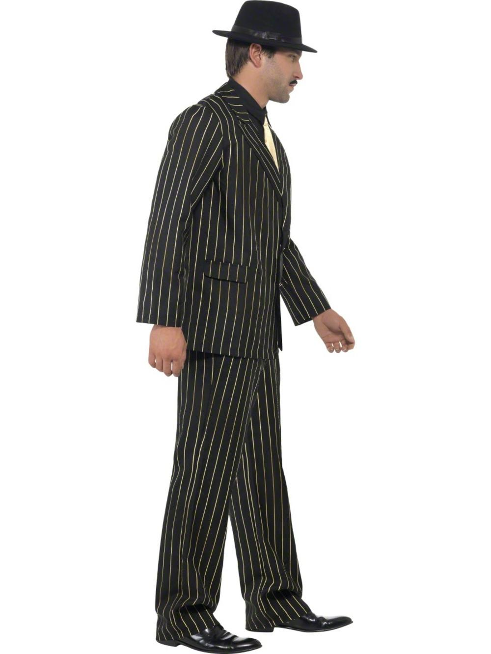 gold pinstripe gangster suit costume 20s and gangster