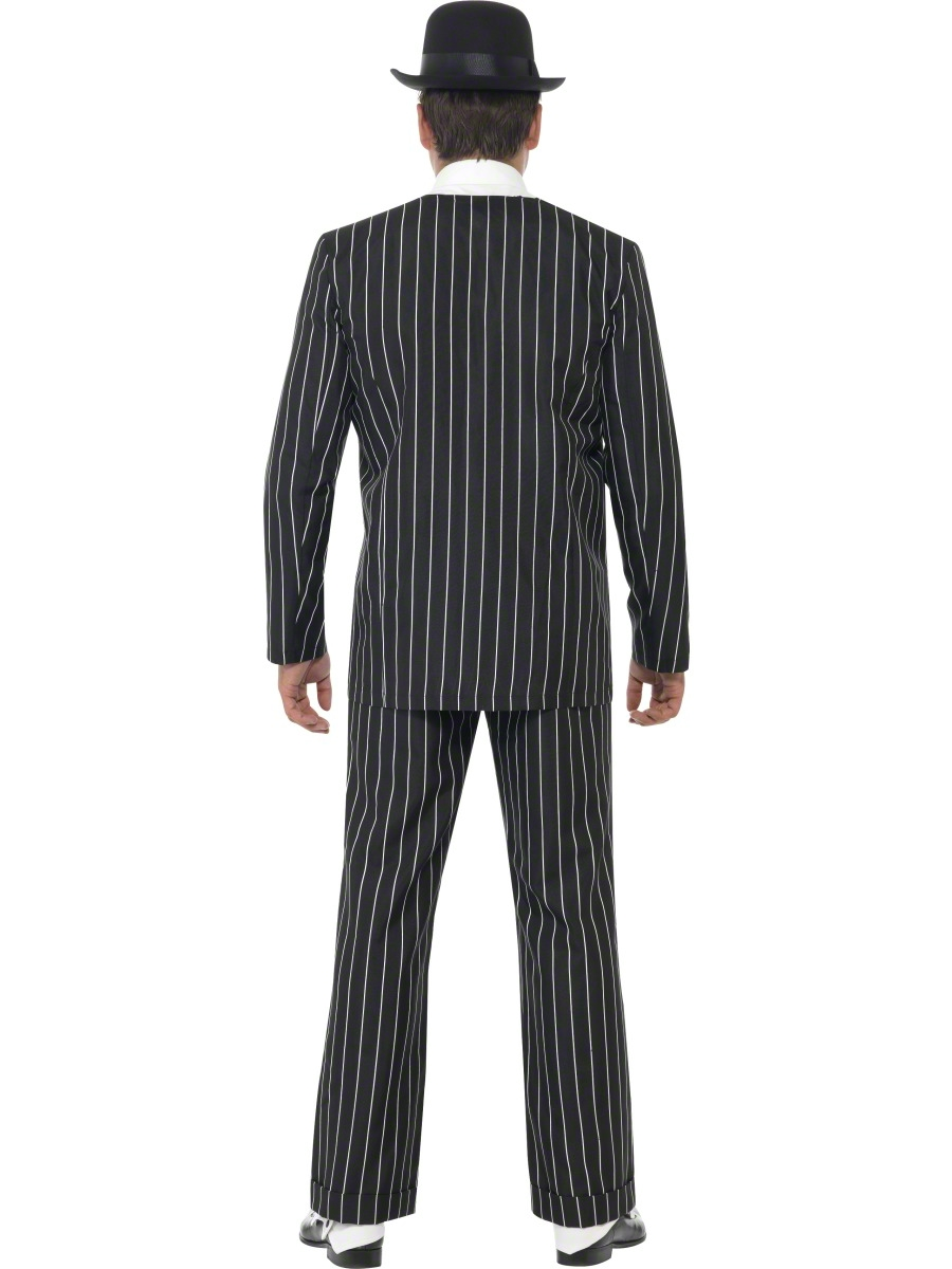 Vintage Gangster Boss Suit Mens Fancy Dress 1920s Costume 20s ...