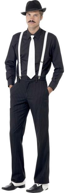 gangster hat tie braces spats and tash fancy dress mens 1920s costume kit 5020570230831 ebay. Black Bedroom Furniture Sets. Home Design Ideas