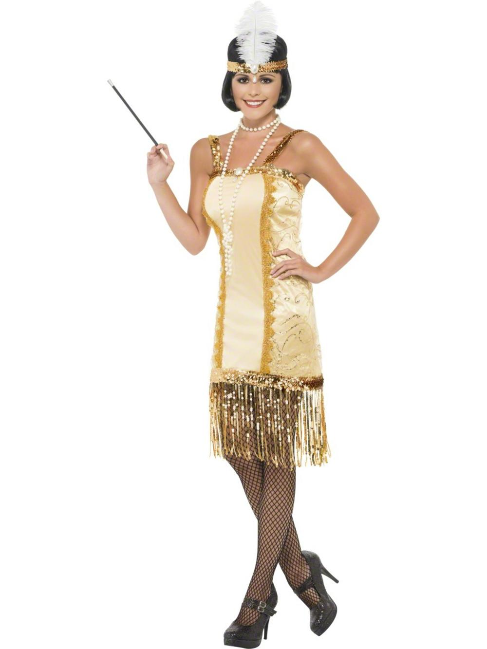 Gold Charleston Flapper Costume