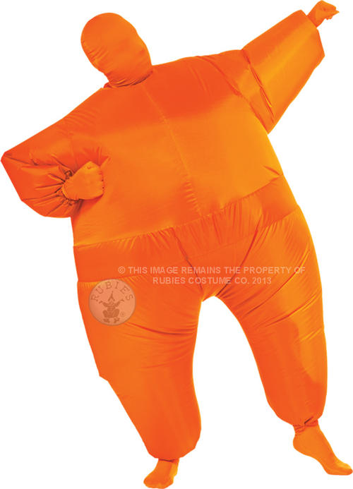 Orange Inflatable Jumpsuit Costume