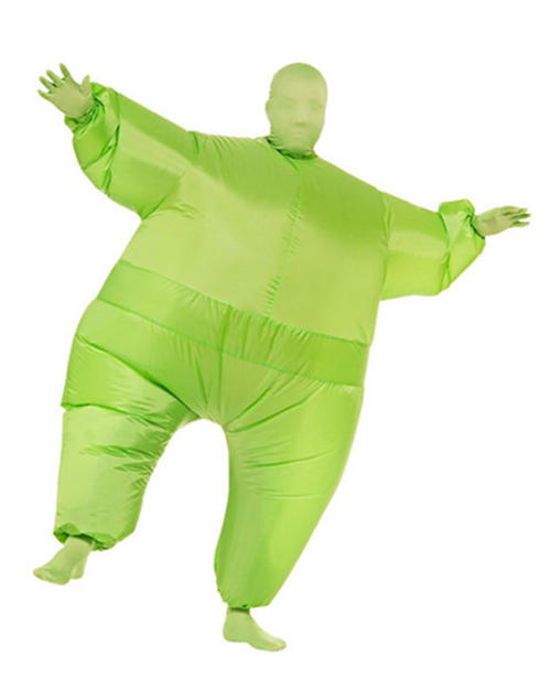 Green Inflatable Jumpsuit Costume