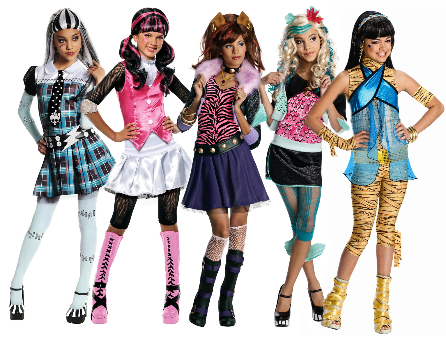 Monster high girls book week fancy dress kids halloween for Cool halloween costumes for kids girls
