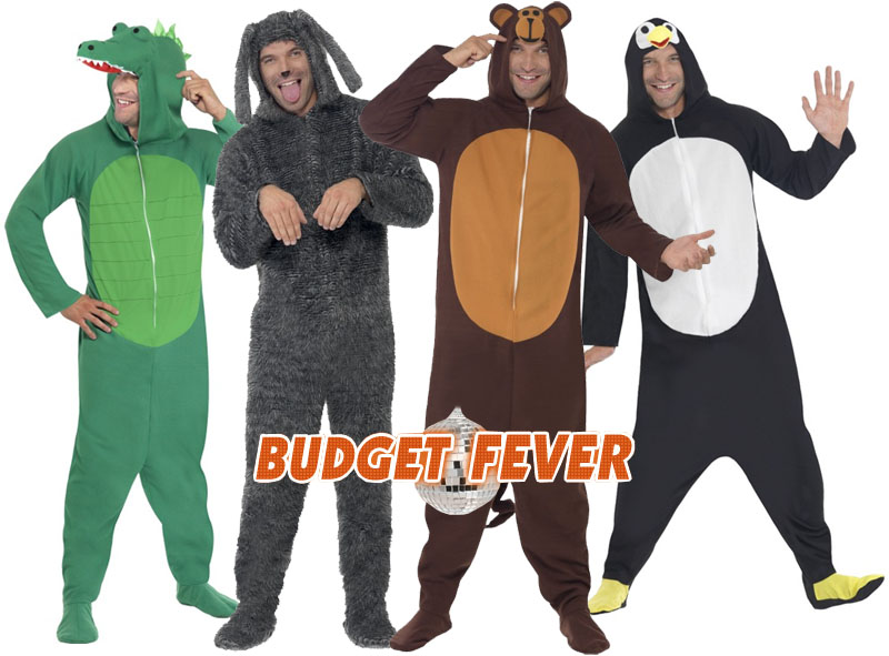 050cb4a04057 Sentinel Animal Jumpsuit Fancy Dress Mens Ladies Jungle Book Zoo Pyjamas  Costume Outfits