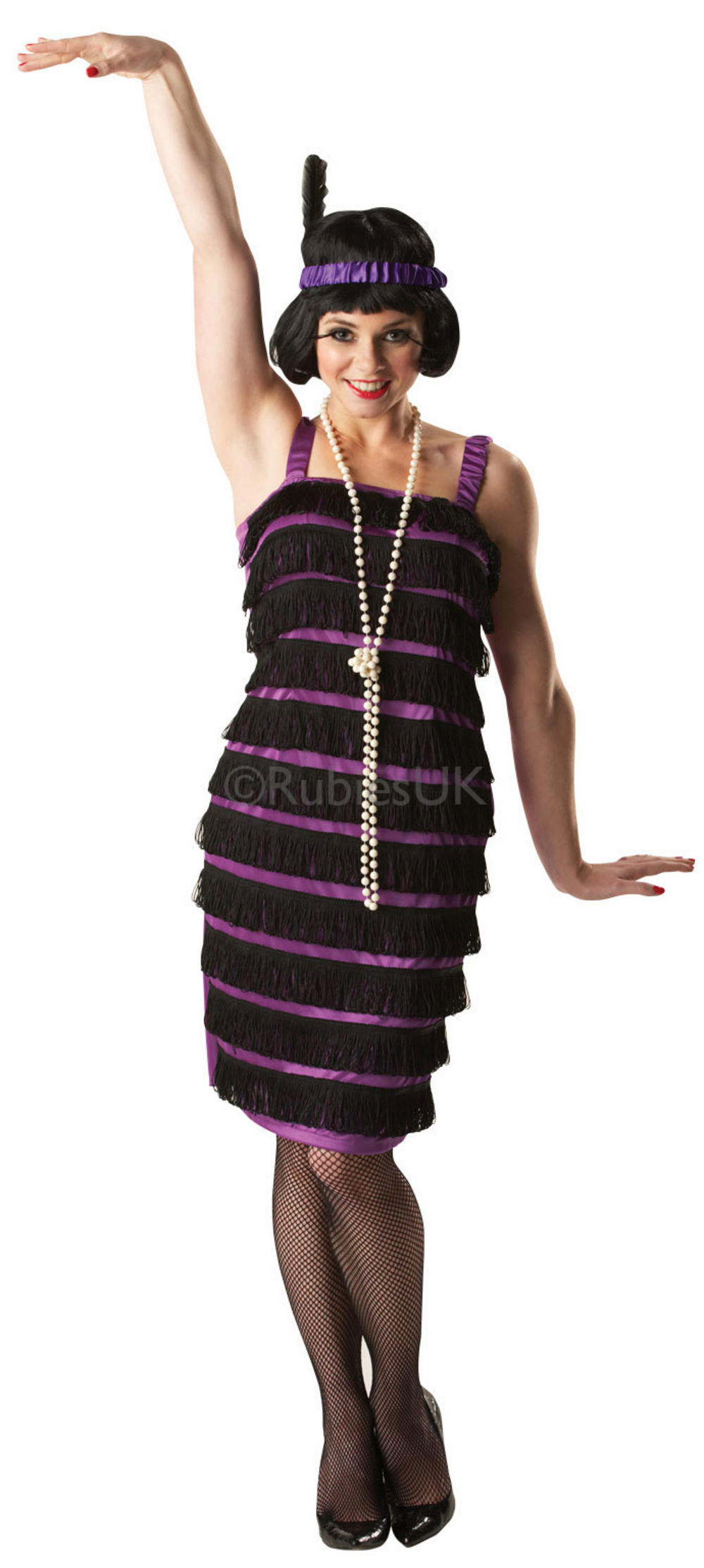 20s Black and Purple Flapper