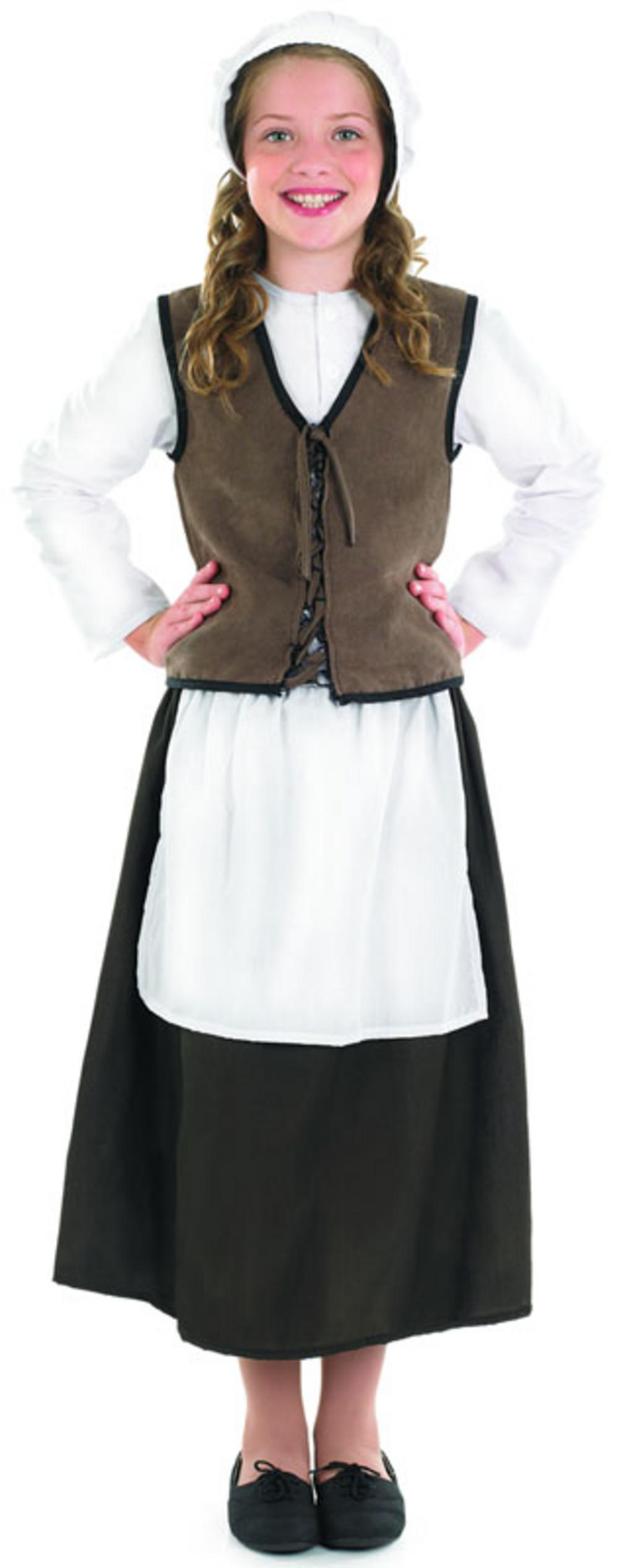 Girls Tudor Kitchen Girl Costume