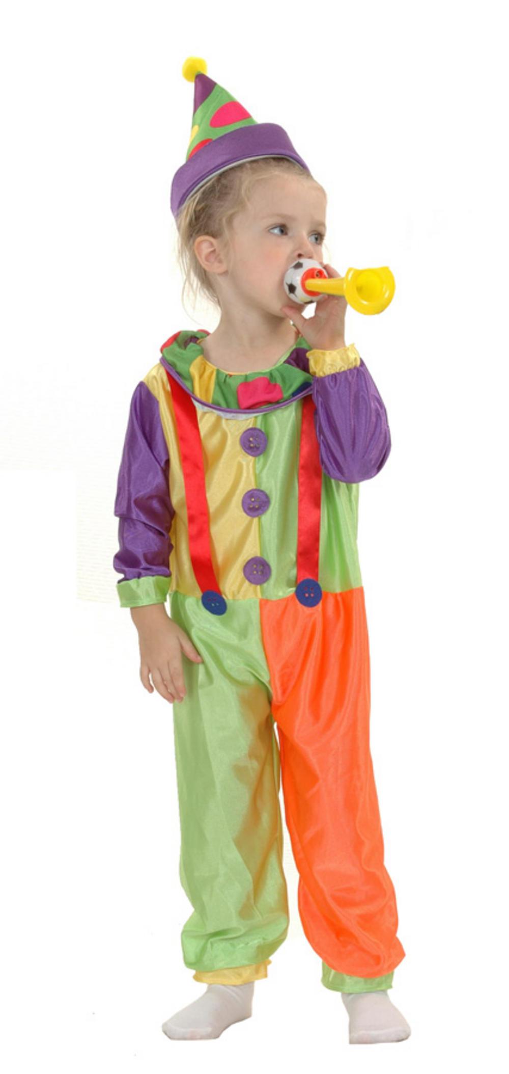 Kids Toddler Clown Costume Girls World Book Day Fancy Dress