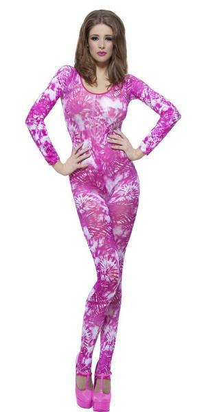 Pink Tie Dye Bodysuit Costume