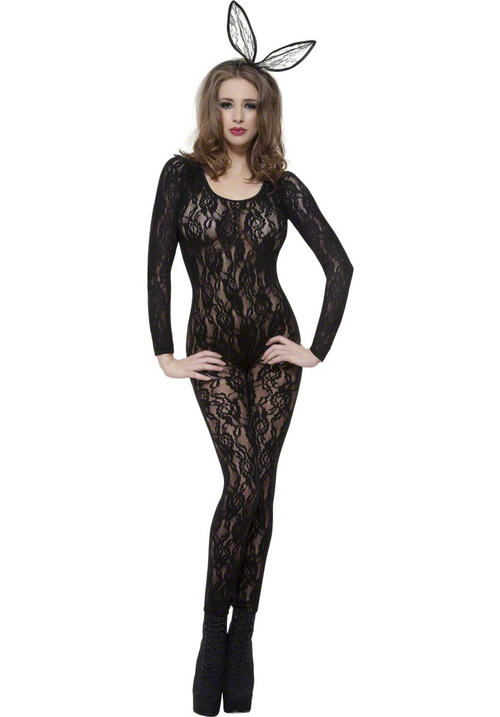 Black Lace Bodysuit Costume