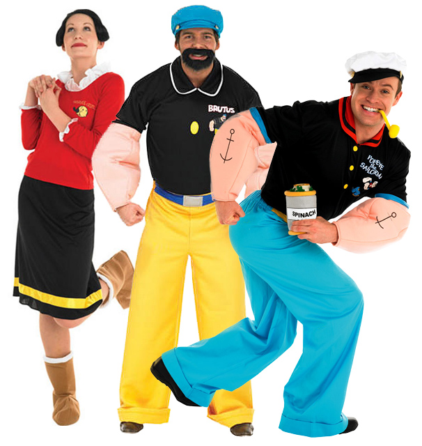 Sentinel Popeye 1980s Cartoon Character Olive Oyl Brutus 80s Fancy Dress Adult Costume  sc 1 st  eBay & Popeye 1980s Cartoon Character Olive Oyl Brutus 80s Fancy Dress ...
