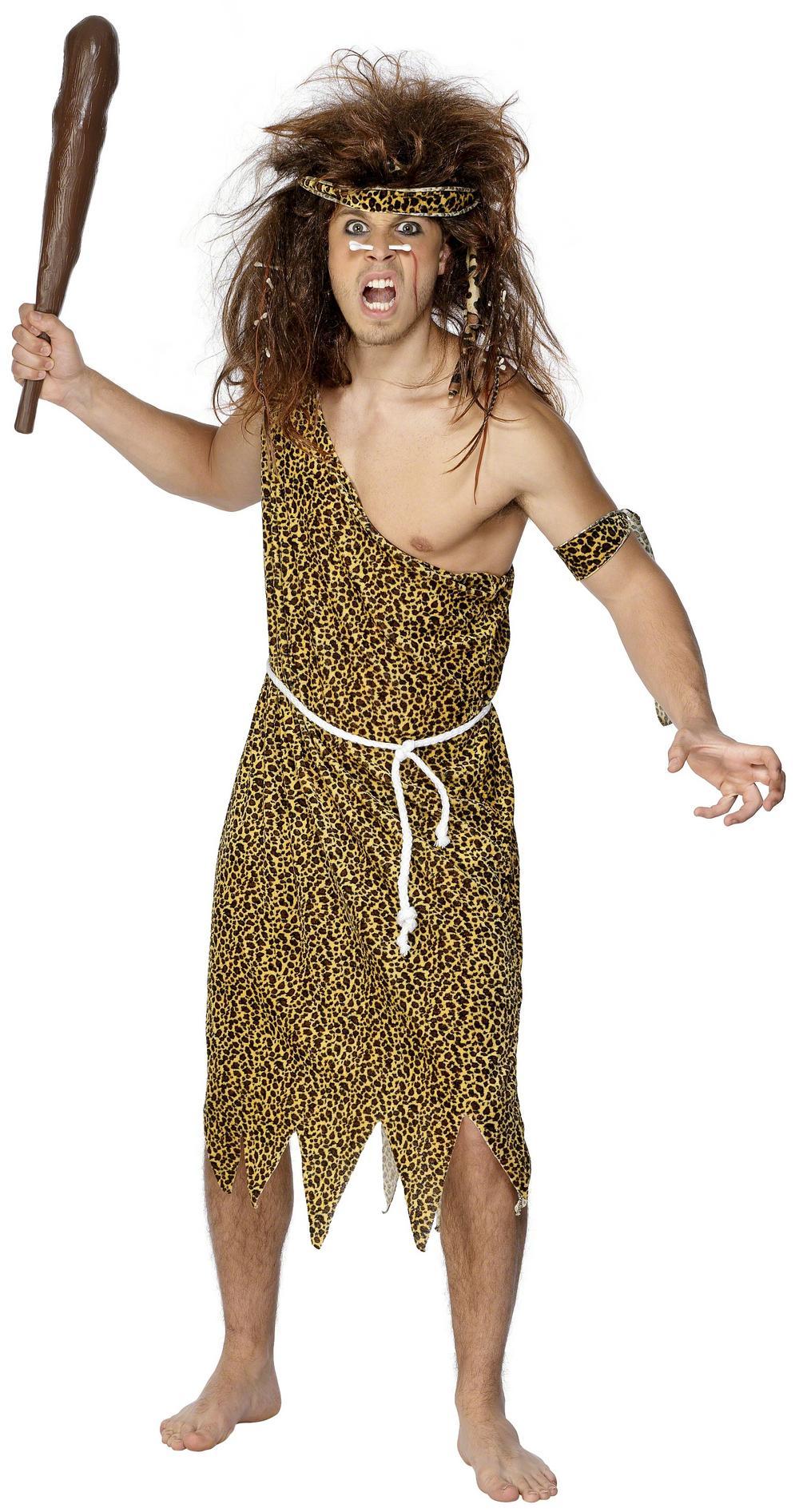 Adults Caveman Fancy Dress Costume