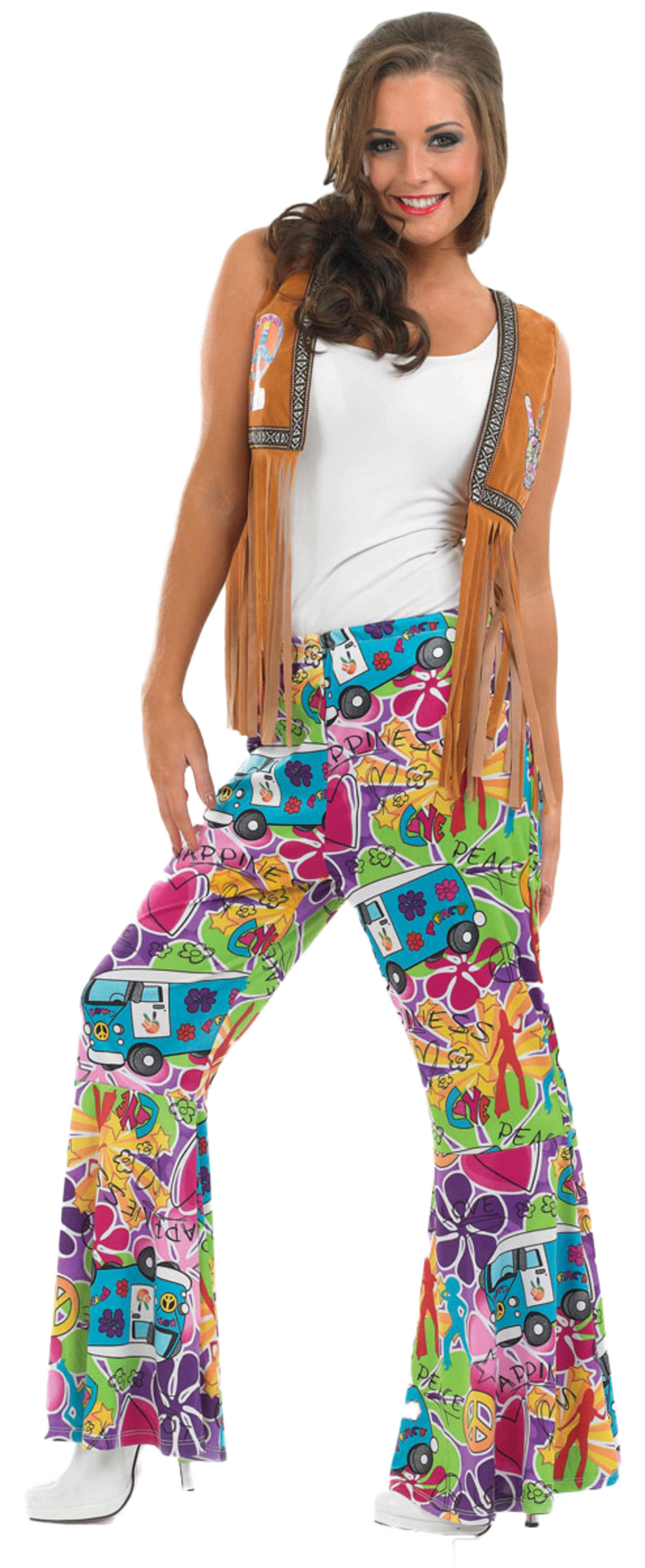 60s Hippie Patterned Flares