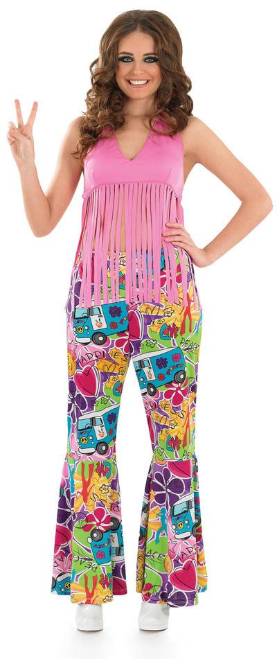 Pink Fringed Hippie Top