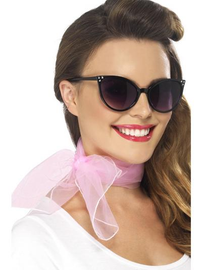 Baby Pink 50s Neck Scarf
