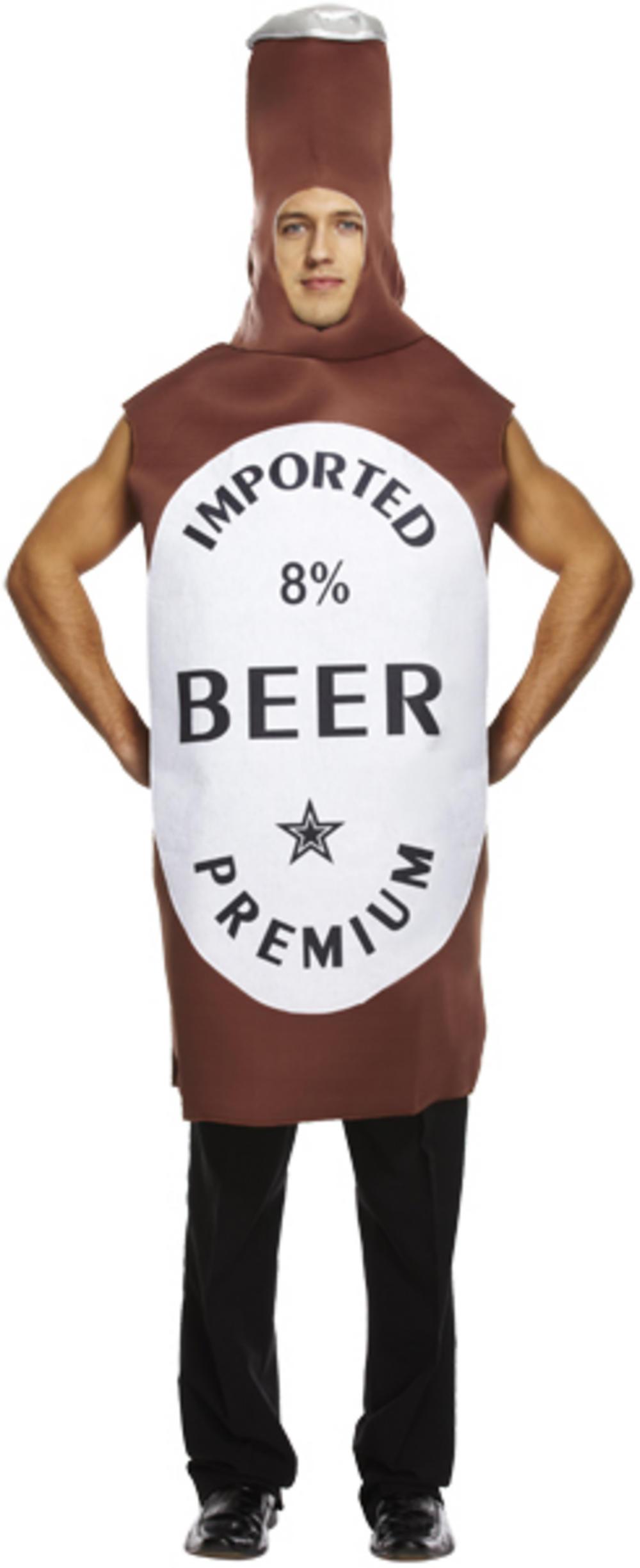 Brown Beer Bottle Costume