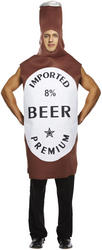 Brown Beer Bottle Costume