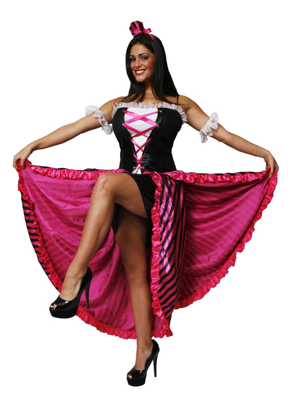 Orion costumes womens red sexy can can saloon girl cabaret fancy dress costume