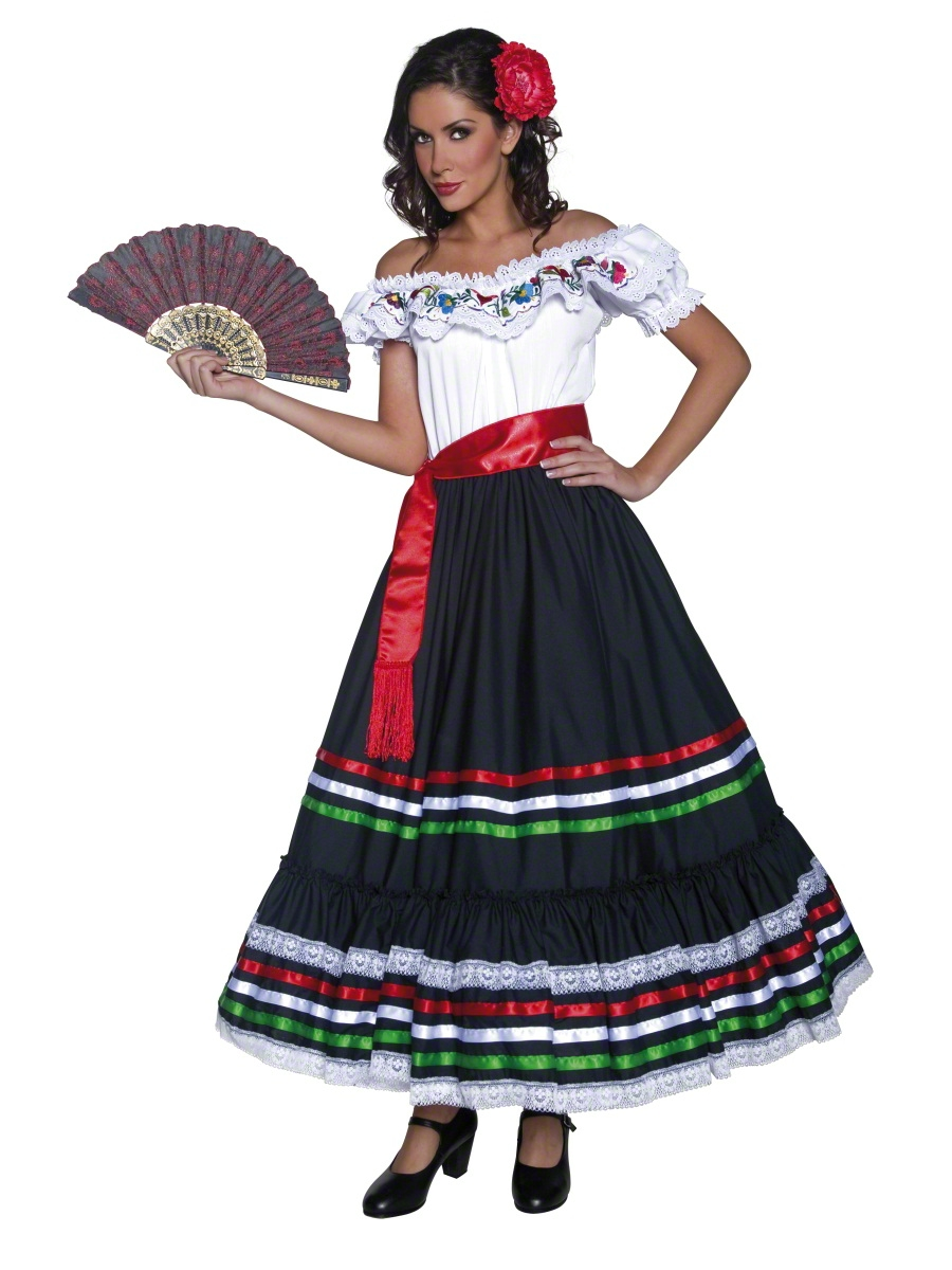 spanish senorita fancy dress ladies wild west national dress mexican
