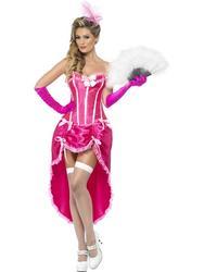 Pink Burlesque Dancer Fancy Dress