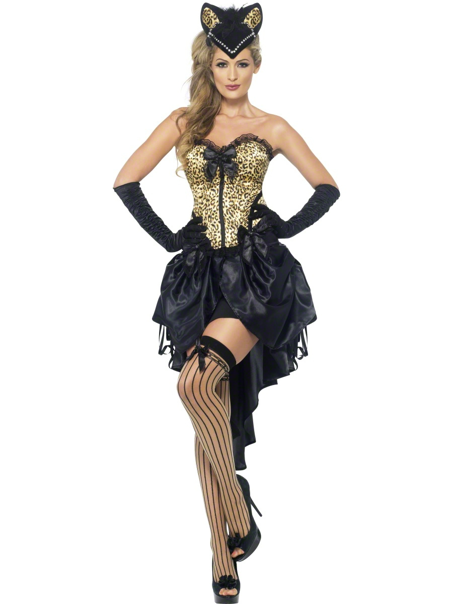 Sentinel Sexy Burlesque Kitty Costume Ladies 1920s Moulin Rouge Fancy Dress Womens Outfit  sc 1 st  eBay & Sexy Burlesque Kitty Costume Ladies 1920s Moulin Rouge Fancy Dress ...