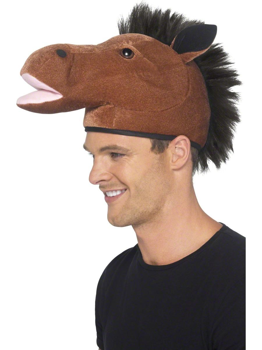 ebc1d692082 Sentinel Horse Fancy Dress Hat Animal Mens Ladies Royal Ascot Costume Adult  Accessory New