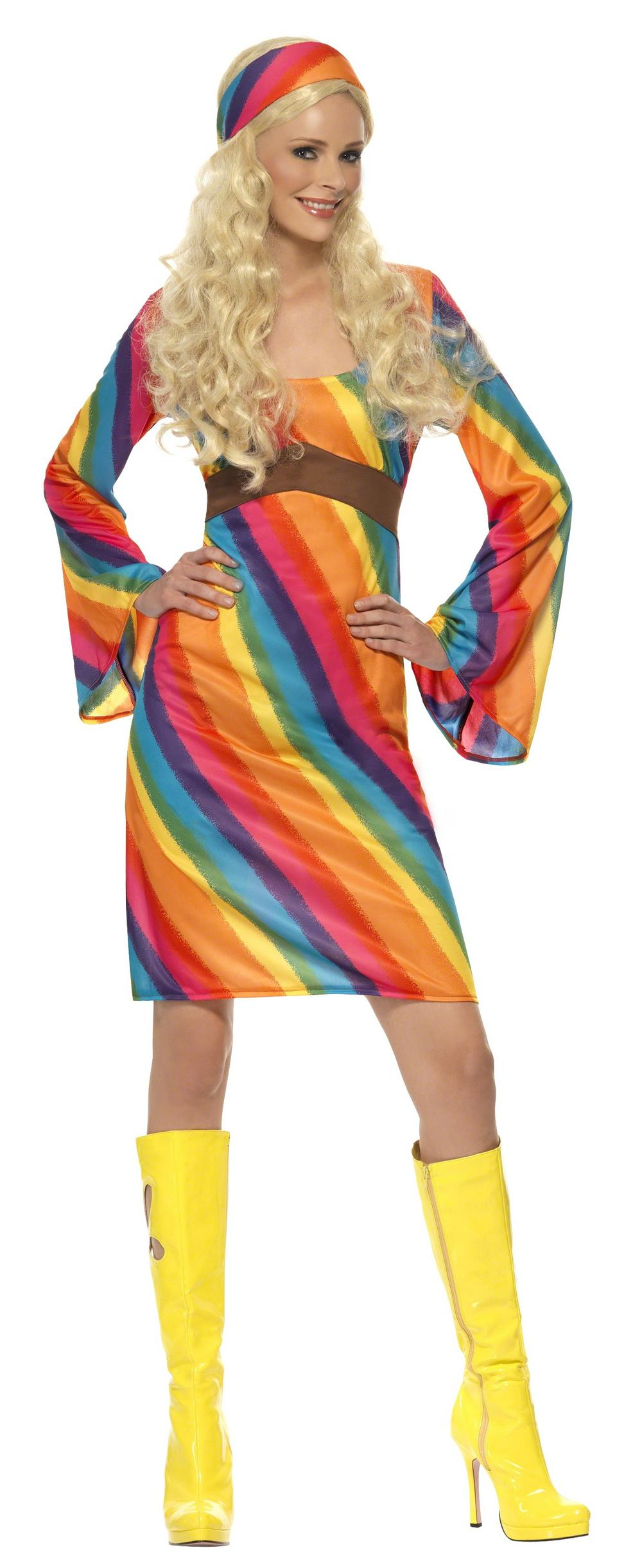 Rainbow Hippie Costume All Ladies Costumes Mega Fancy