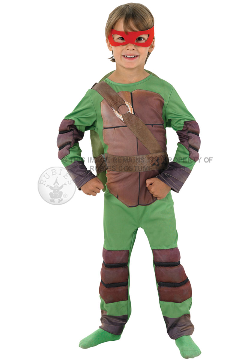 sentinel mutant ninja turtle boys fancy dress halloween kids 1980s superhero tnmt costume