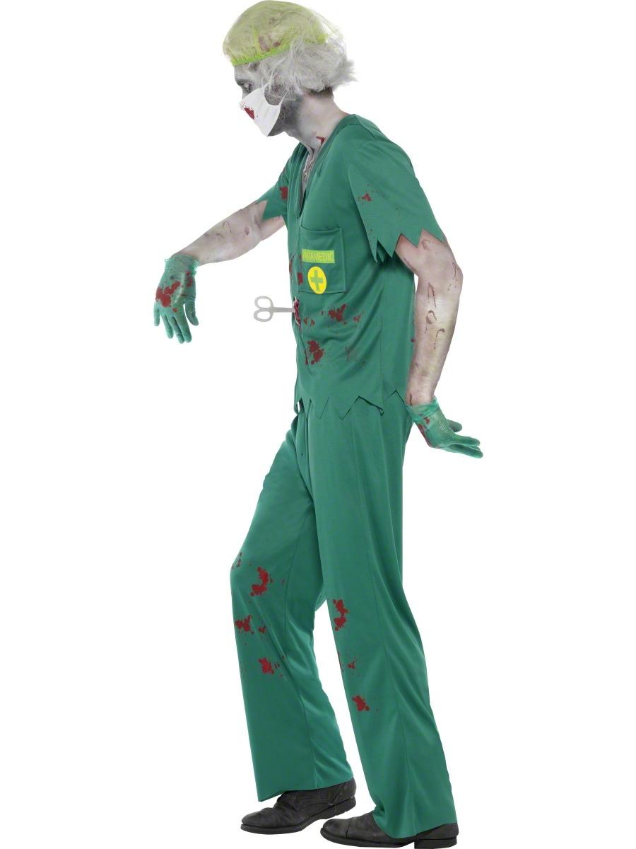 Zombie Paramedic Mens Halloween Fancy Dress Doctor Nurse Horror